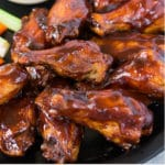 baked chicken wings with ranch sauce