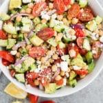 chickpea salad - pin