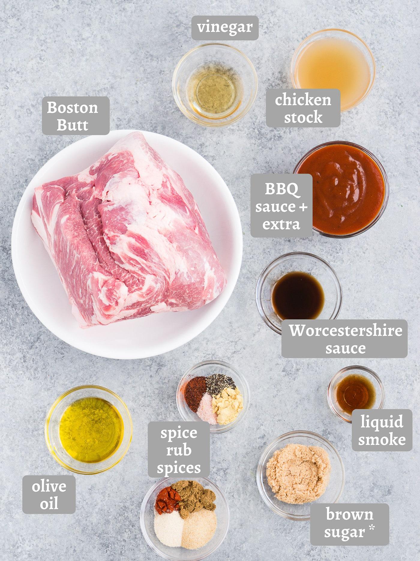 ingredients for pulled pork in pressure cooker