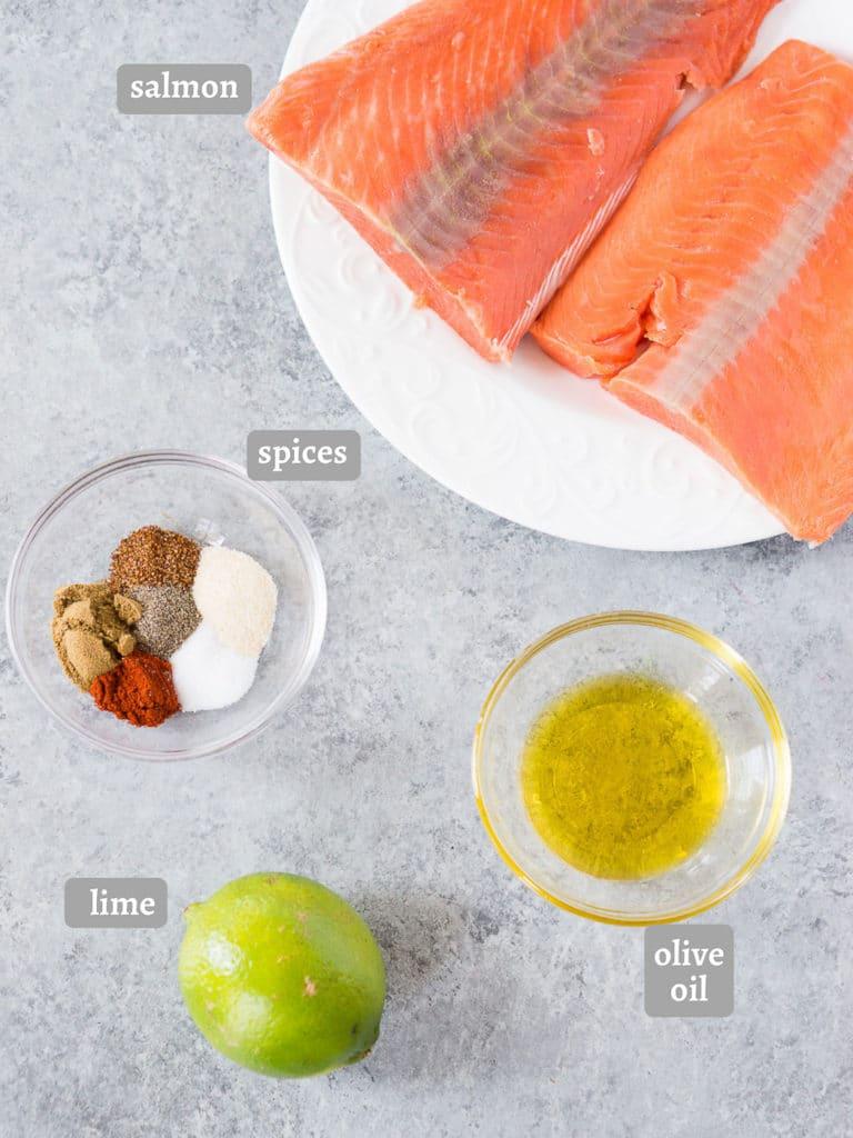 salmon taco ingredients