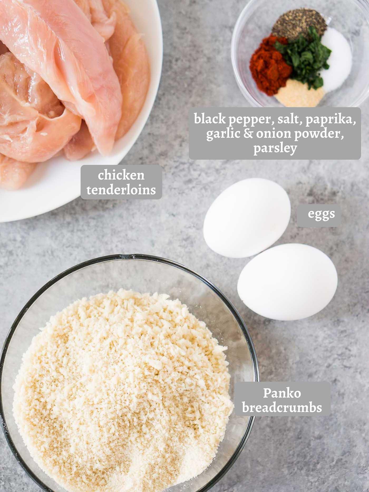 chicken tenders ingredients