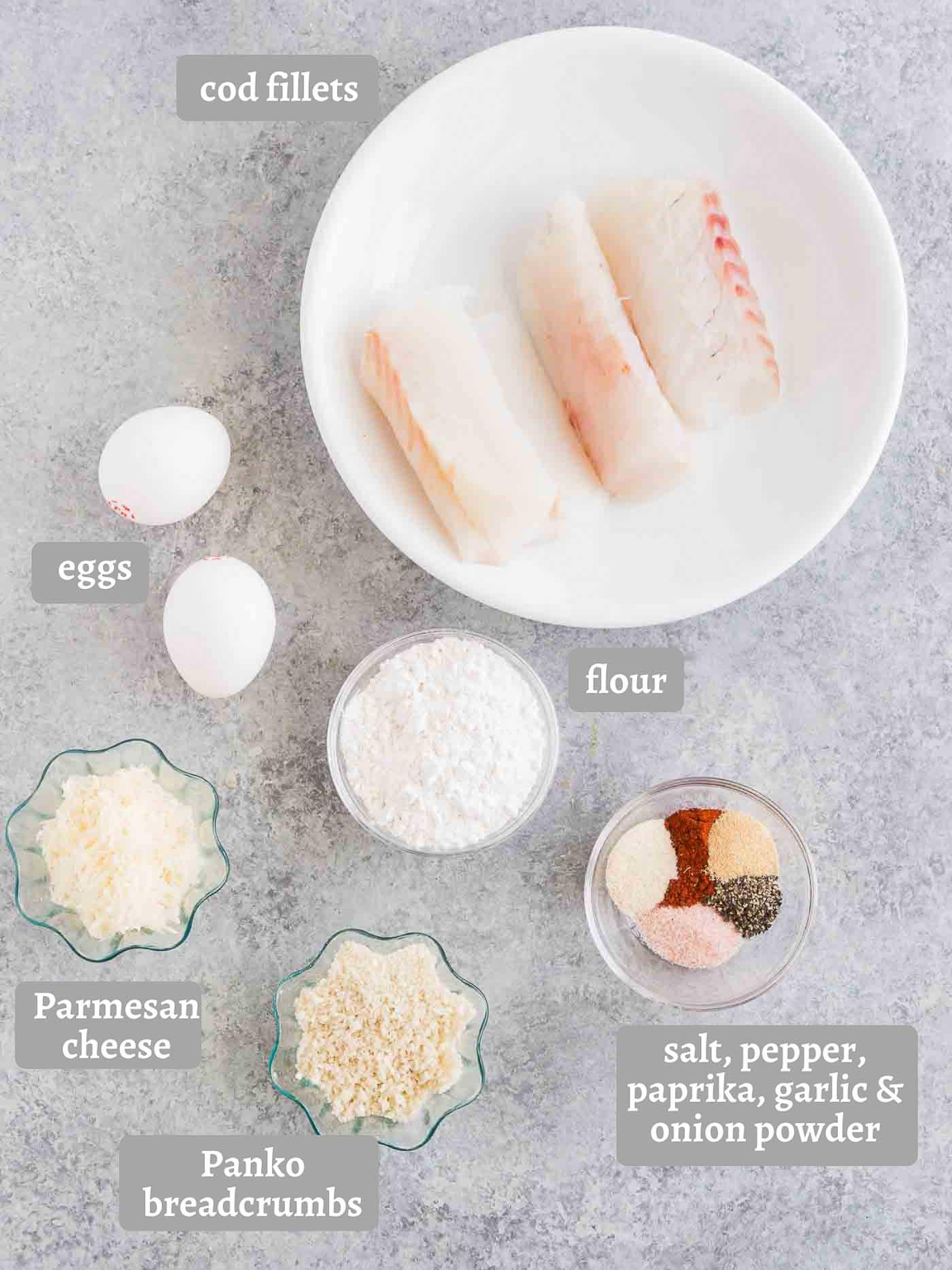 ingredients for fish sticks