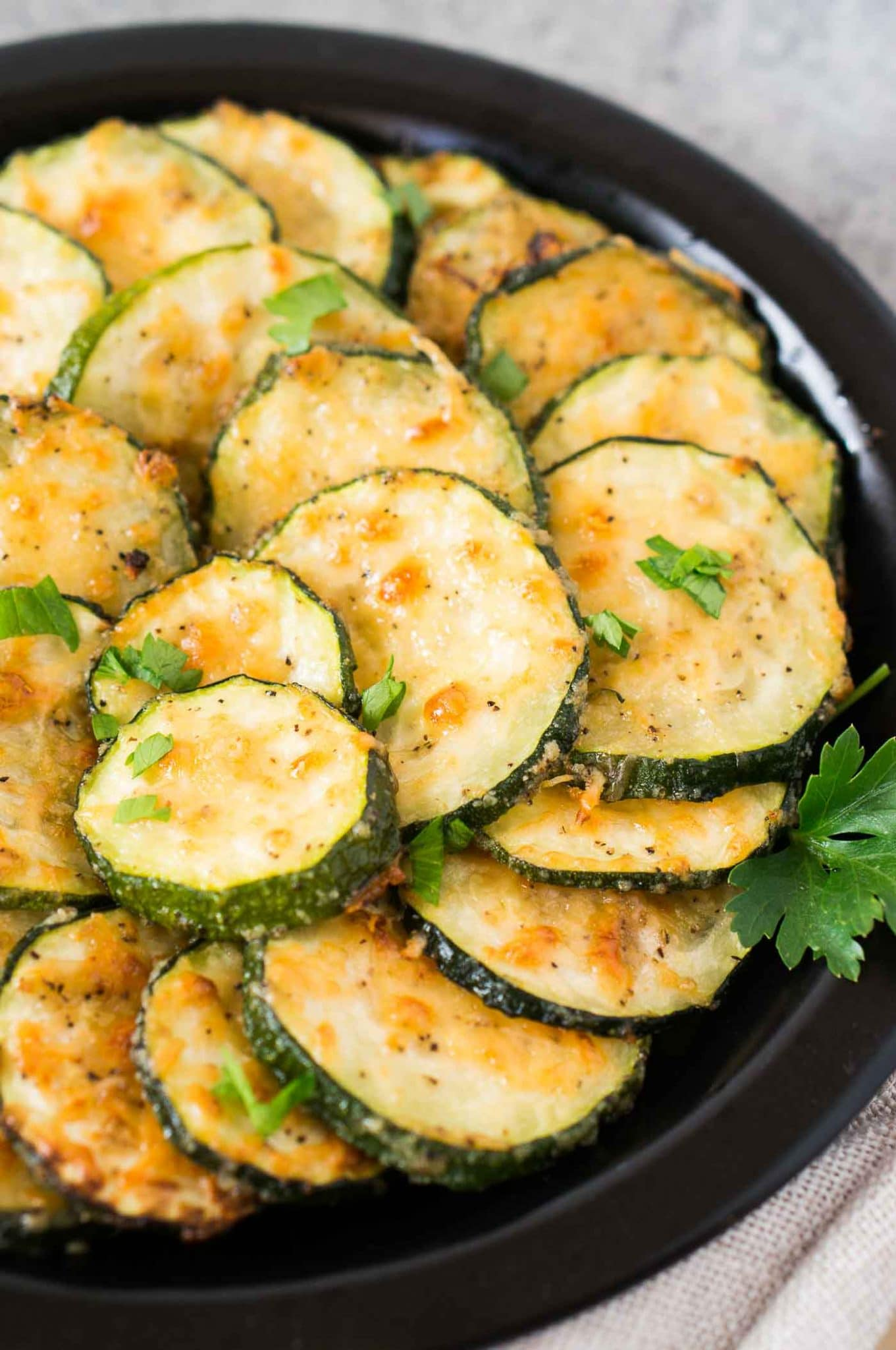 roasted parmesan zucchini slices
