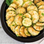 roasted zucchini slices - pin