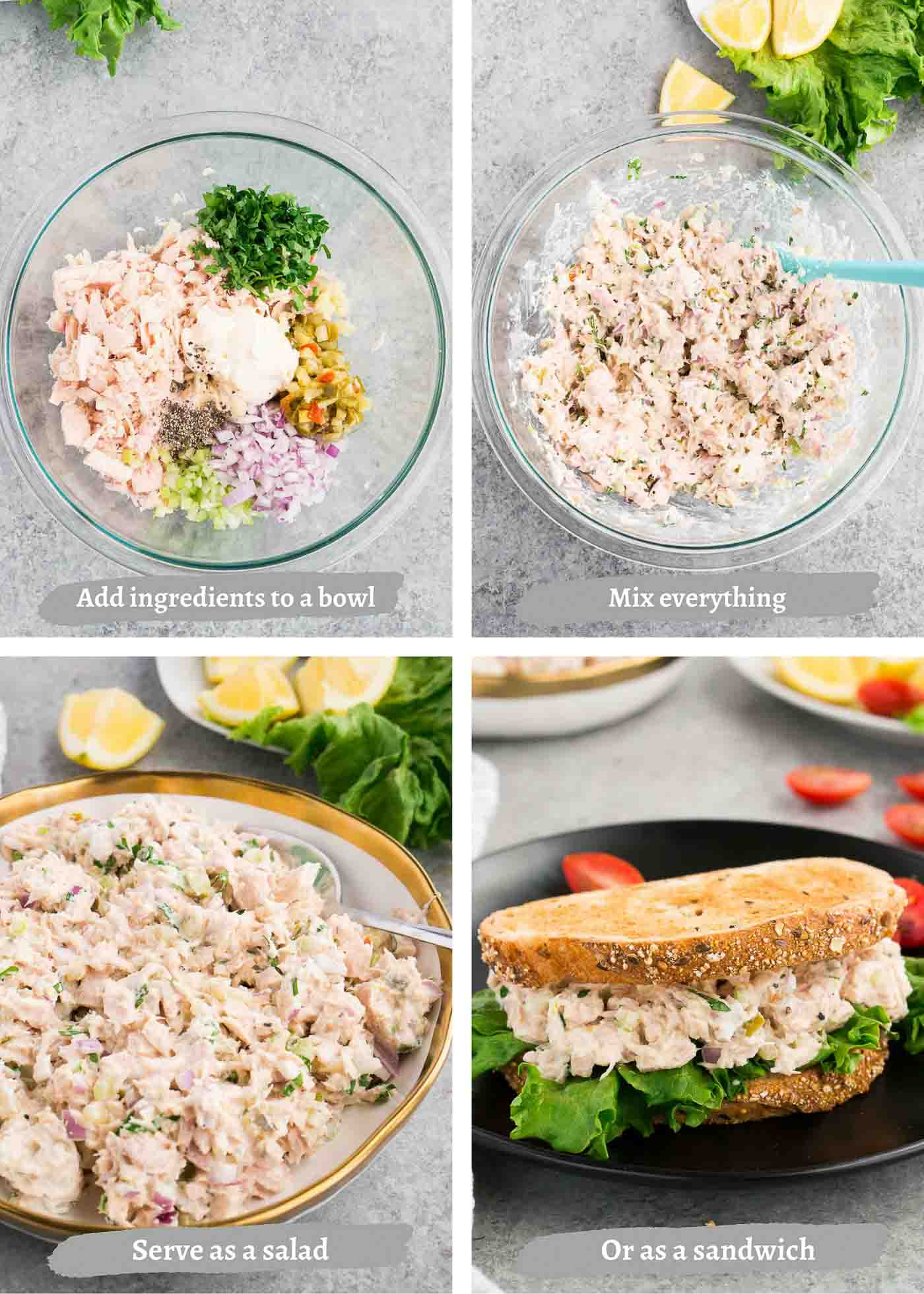 how to make tuna salad sandwich