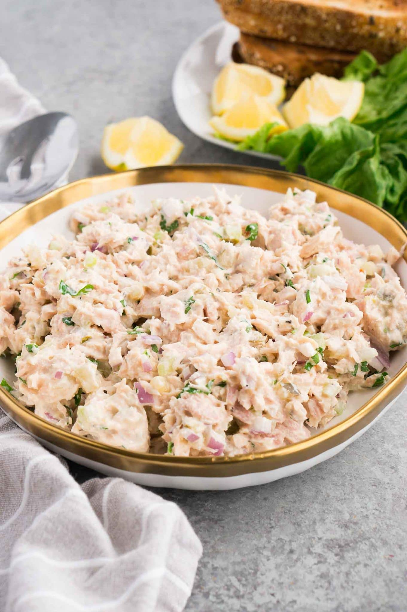 tuna salad for sandwiches in a bowl
