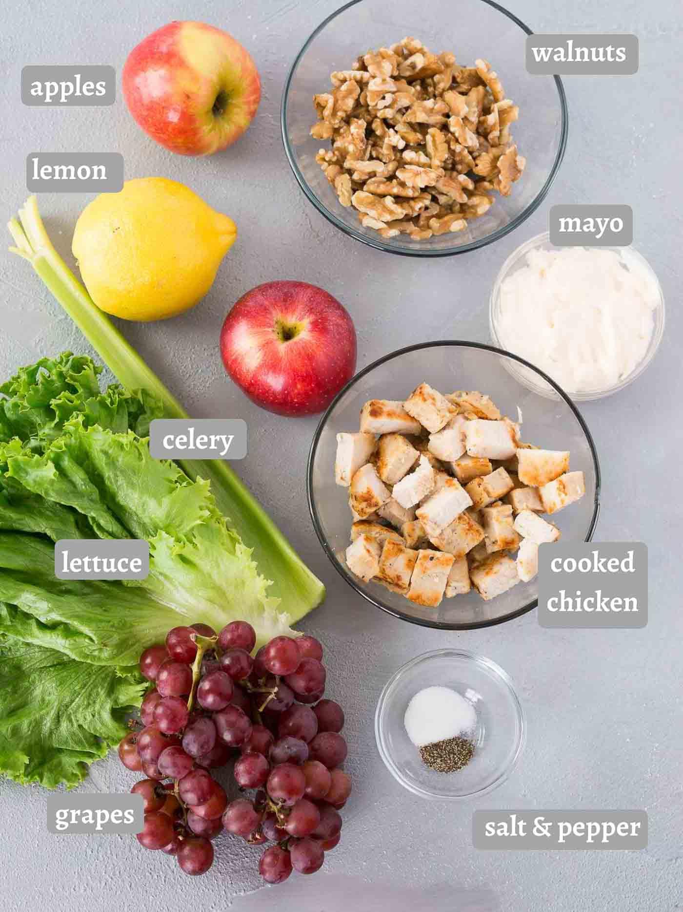 chicken waldorf salad ingredients