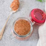 dry rub for chicken wings in a glass container