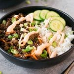 Korean beef bowls - pin