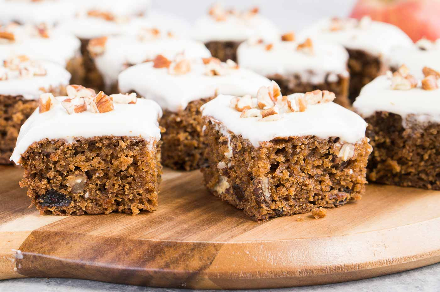 bites of applesauce cake