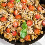 chicken pesto pasta - pin