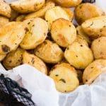 roasted baby potatoes - pin