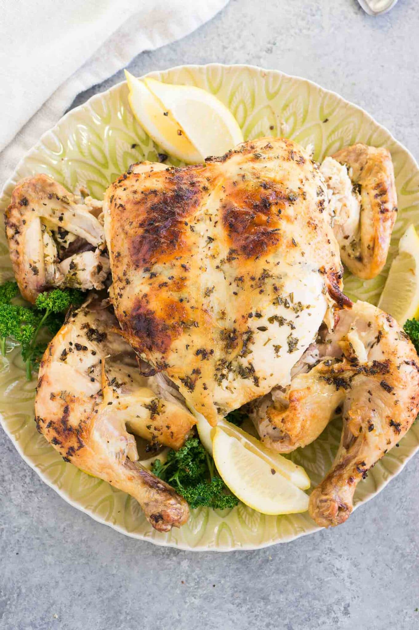 cut chicken after roasting